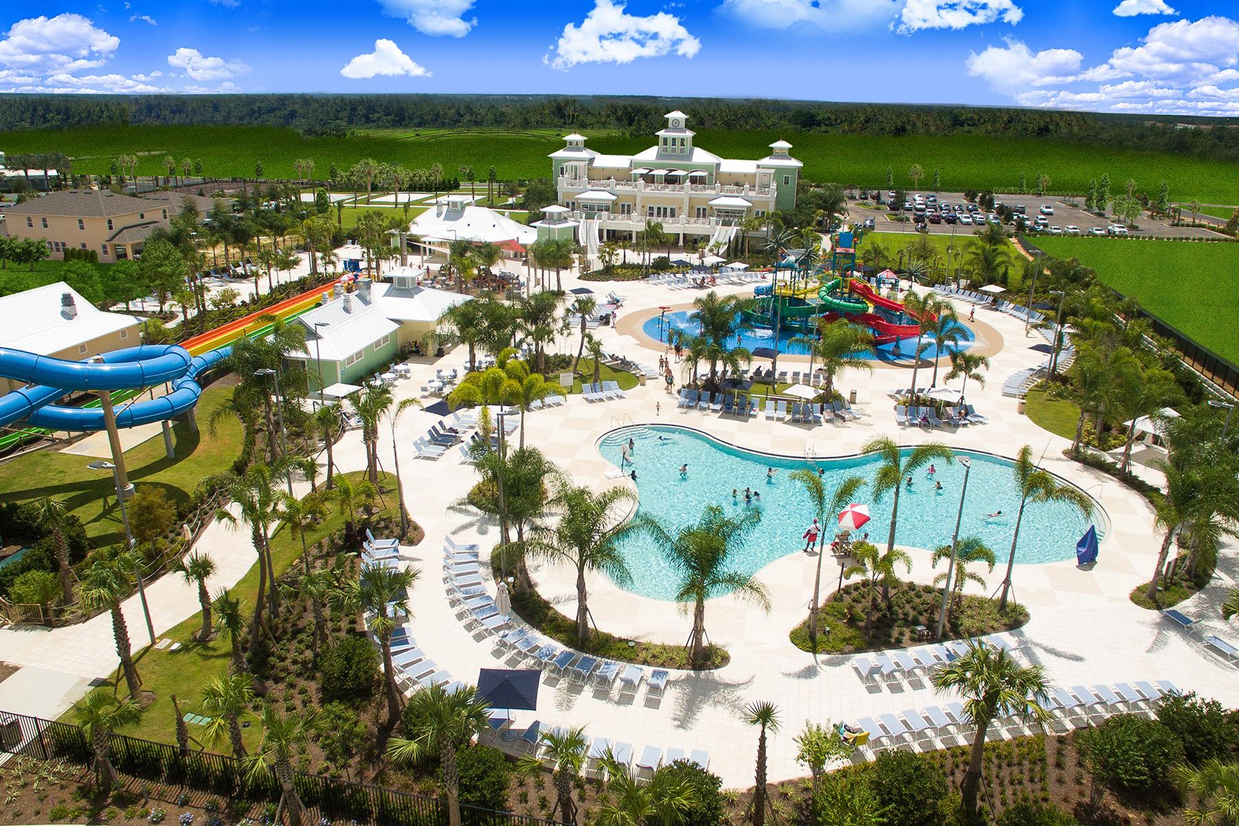 aerial photo of Encore Resort waterpark